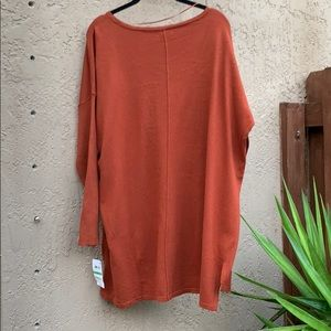 Womens Rust Brown Auburn Style/&co Boatneck Style Sweater Size 1X NWT NEW